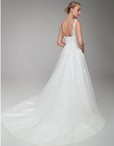 Brielle - a classic gown with beaded neckline