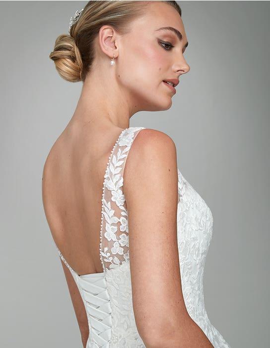 Brielle A_line Wedding dress back crop Anna Sorrano