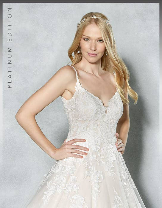 Britney aline wedding dresscrop front Viva Bride
