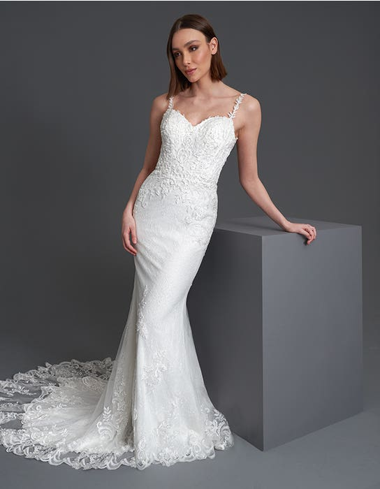 Brooklynn - a low back chantilly lace gown with statement train   WED2B