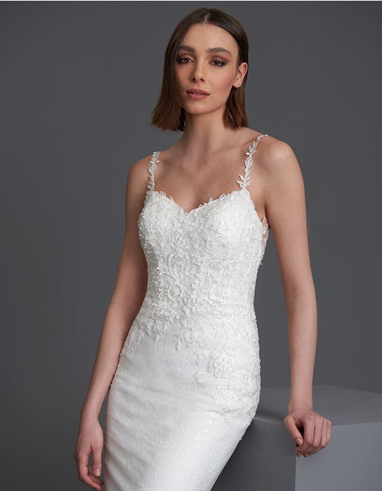 Brooklyn sheath wedding dress front crop The Signature Collection