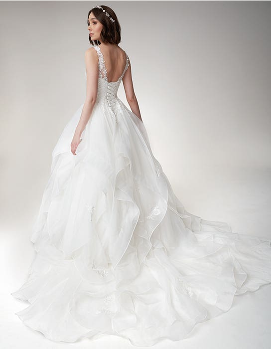 Brynn Ballgown wedding dress back Viva Bride