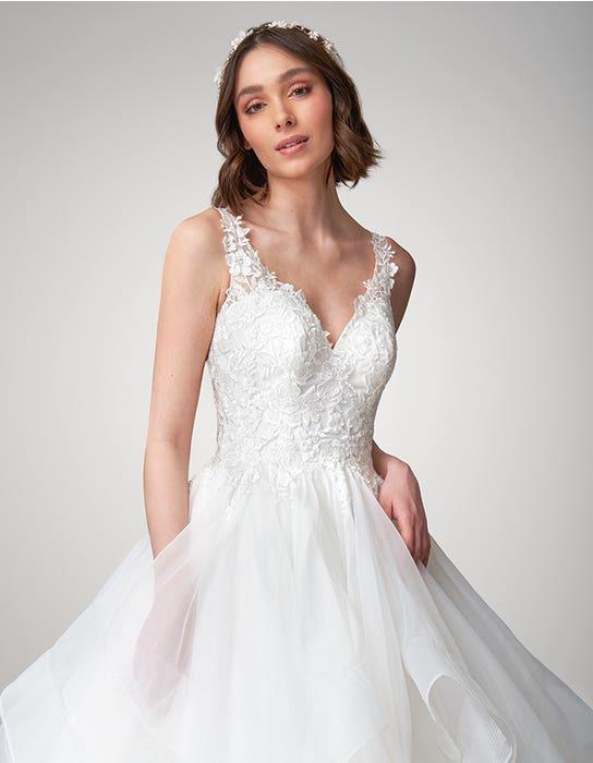 Brynn Ballgown wedding dress front crop Viva Bride