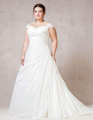 Calla aline wedding dress front Bellami th