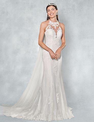 Camden sheath wedding dress front Viva Bride thumbnail