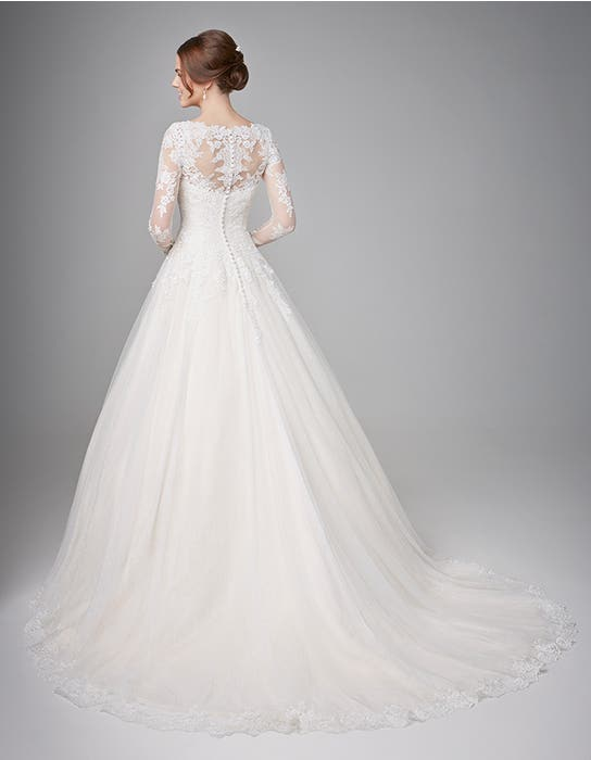 Camilla aline wedding dress back Anna Sorrano