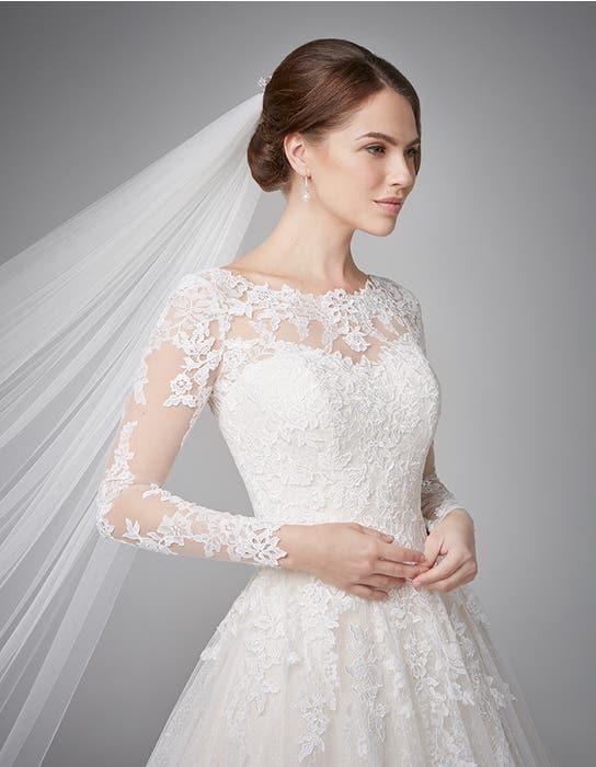 Camilla aline wedding dress crop front Anna Sorrano