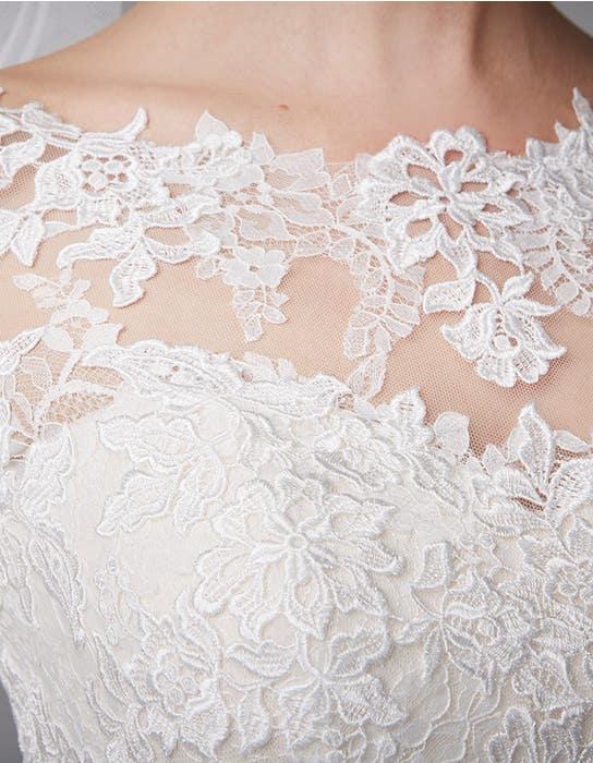 Camilla aline wedding dress detail Anna Sorrano