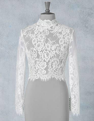 Caprice bridal jacket front Amixi th