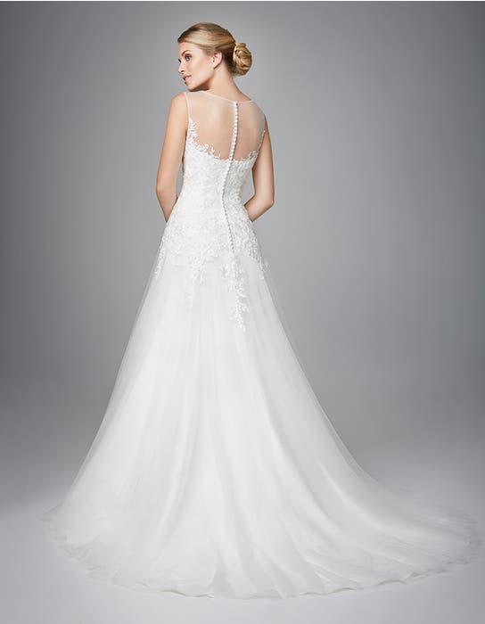Carlotta fit _ flare wedding dress back Anna Sorrano