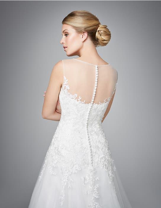 Carlotta fit _ flare wedding dress back crop Anna Sorrano