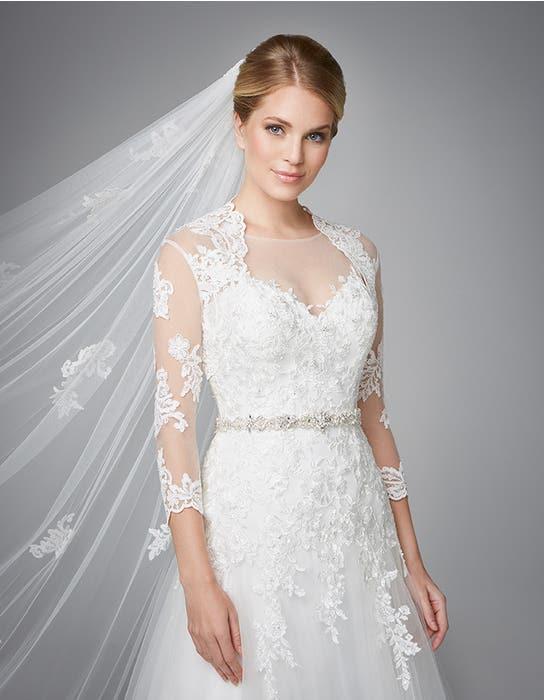 Carlotta fit _ flare wedding dress front crop2 Anna Sorrano