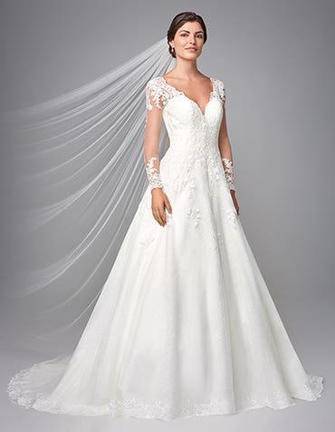 Caterina - a demure aline gown