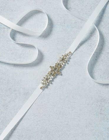 CELESTINE - Bruidsriem met sprankelende applicatie-details