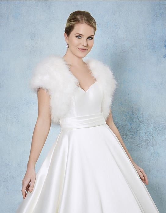 Celine bridal jacket front Amixi