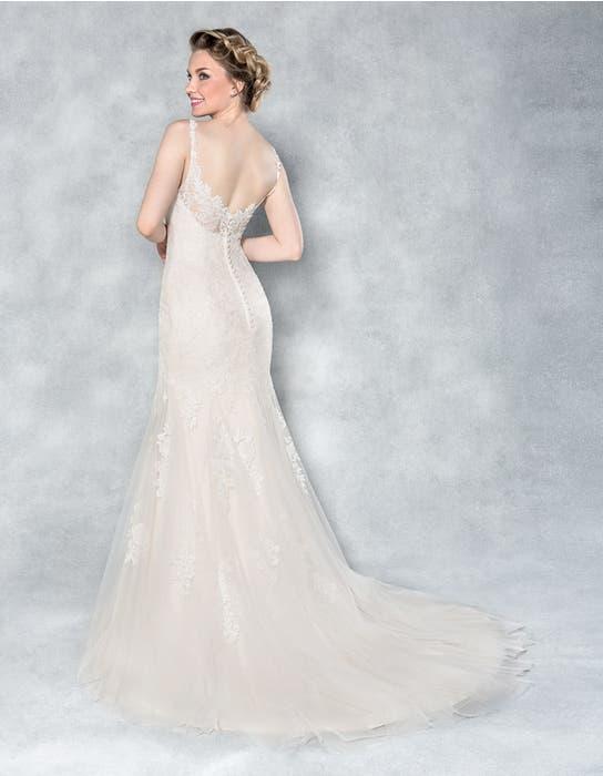 Charlize fishtail wedding dress back Viva Bride