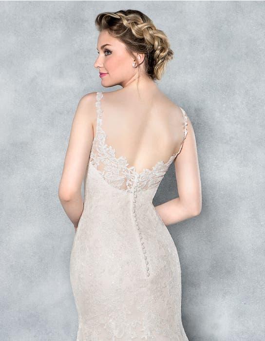 Charlize fishtail wedding dress back crop Viva Bride