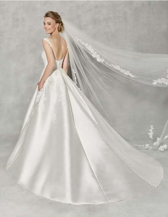 Charlotte ballgown wedding dress back Anna Sorrano