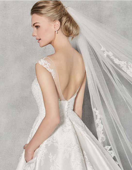 Charlotte ballgown wedding dress back crop Anna Sorrano
