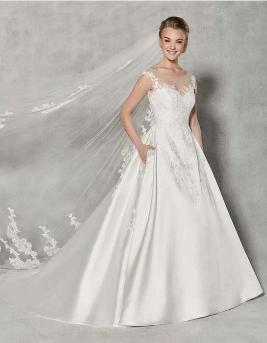 Charlotte ballgown wedding dress front Anna Sorrano