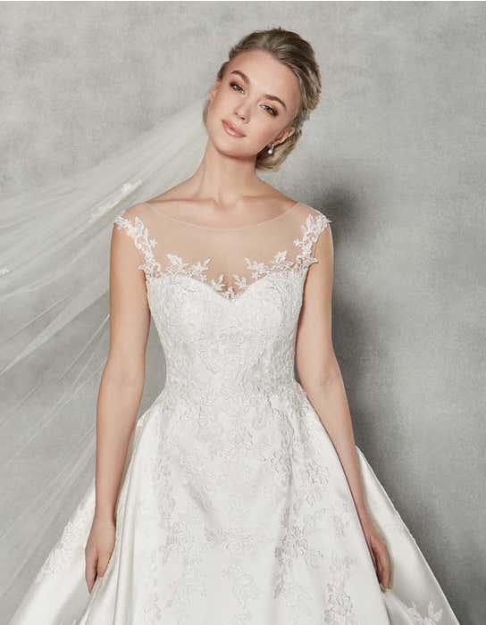 Charlotte ballgown wedding dress front crop Anna Sorrano
