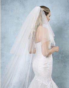 CHRISSY - voile de mariée perlée