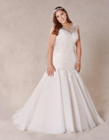Coco fishtail wedding dress front Bellami th