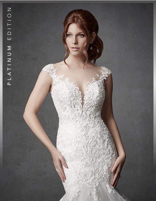 Columbia fishtail wedding dress crop front Signature