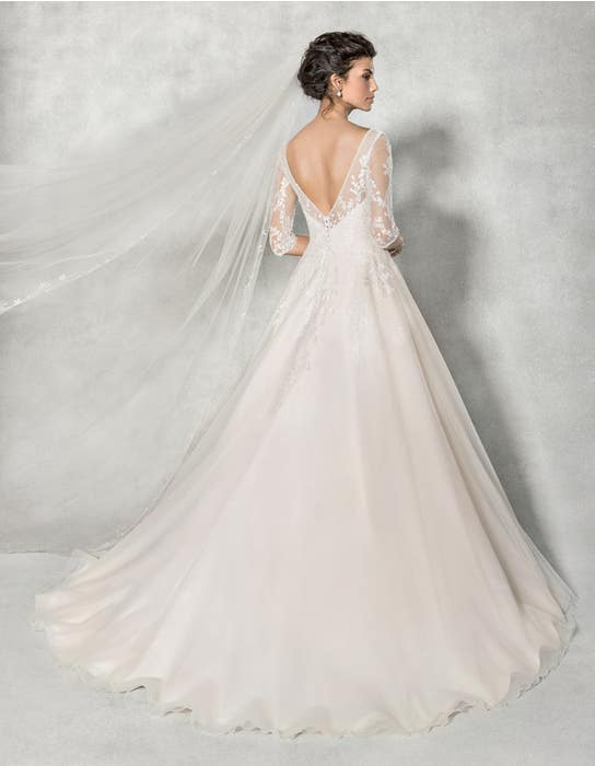 Cressida aline wedding dress back Anna Sorrano