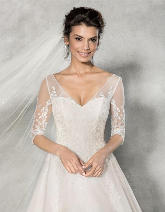 Cressida aline wedding dress front crop Anna Sorrano