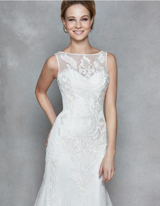 Dana fit _ flare wedding dress front crop Anna Sorrano