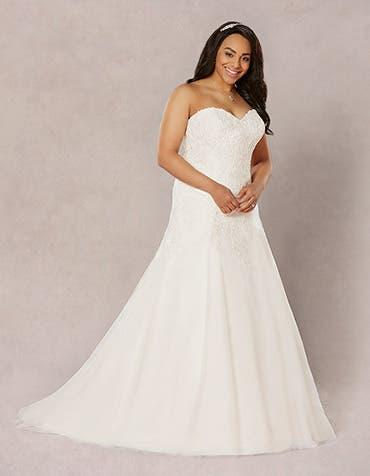 Dawn aline wedding dress front Bellami th