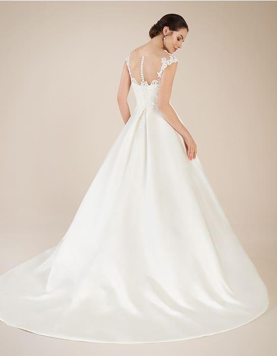 Dawson aline wedding dress back Anna Sorrano