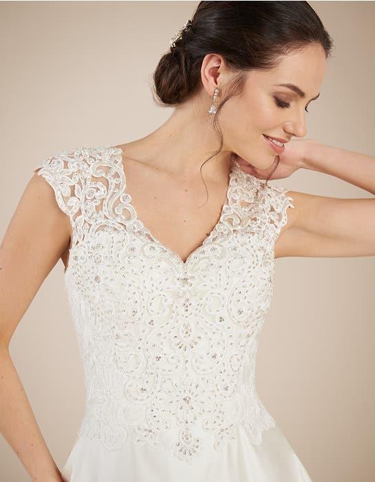 Dawson aline wedding dress crop front Anna Sorrano