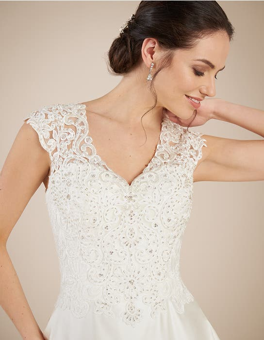 DAWSON - a satin and lace A-line with pockets | WED2B