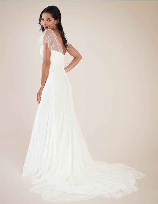 Daya sheath wedding dress back Heidi Hudson
