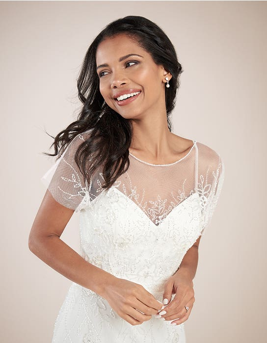 Daya sheath wedding dress front crop Heidi Hudson