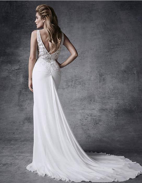 Demi sheath wedding dress back Signature