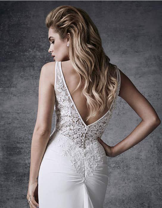 Demi sheath wedding dress back crop Signature