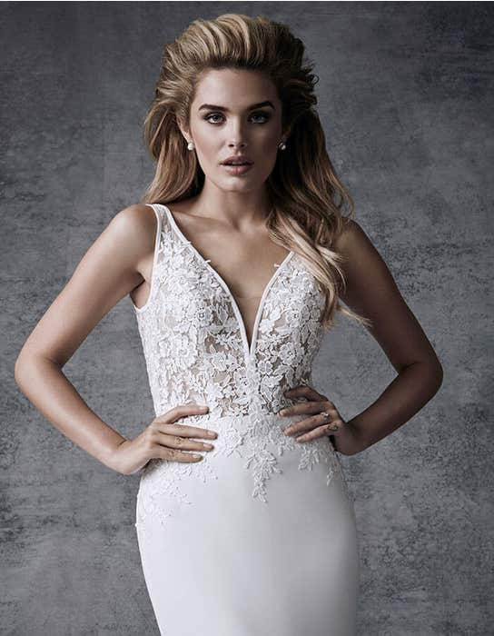 Demi sheath wedding dress front crop Signature