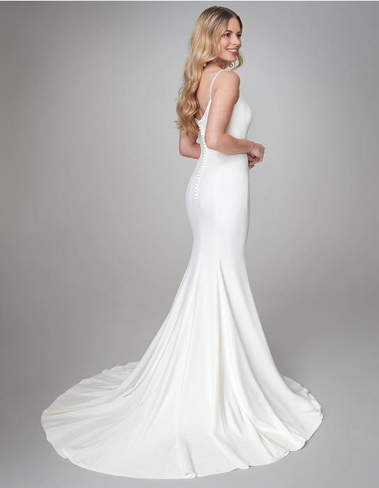Diaz sheath wedding dress back Anna Sorrano