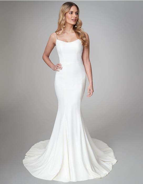 Diaz sheath wedding dress front Anna Sorrano