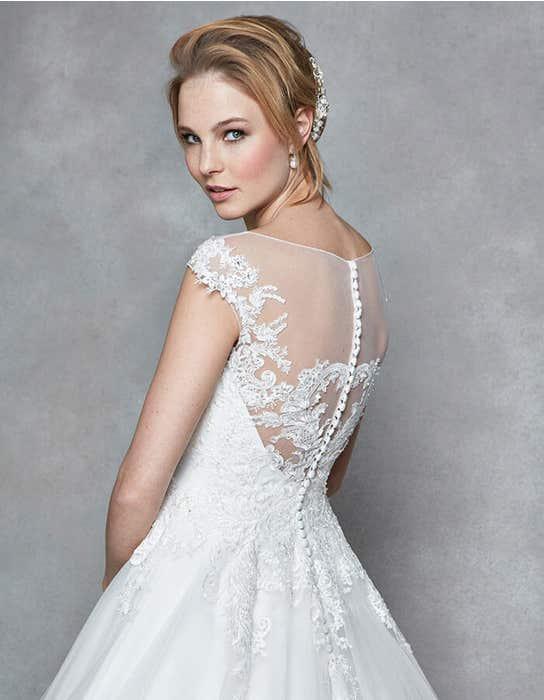 Divine aline wedding dress back crop Anna Sorrano
