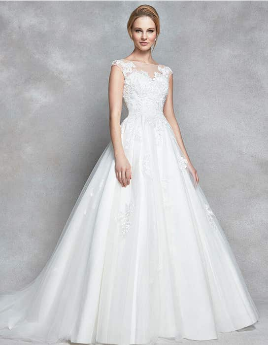 Divine aline wedding dress front Anna Sorrano