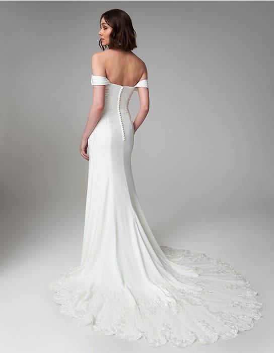 Drew sheath wedding dress back Anna Sorrano