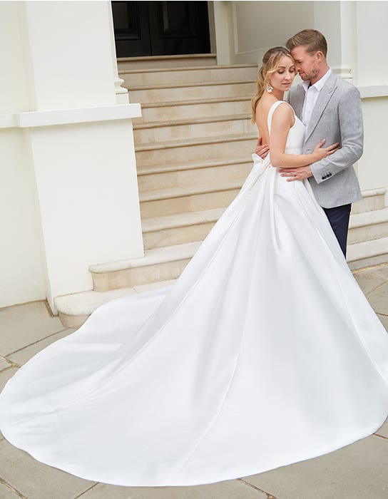 Elena - a statement mikado gown with pockets | WED2B