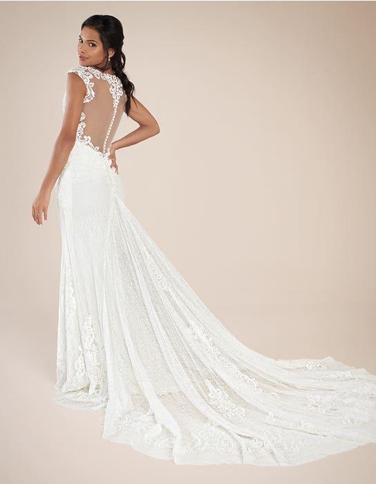 Eleni sheath wedding dress back Signature