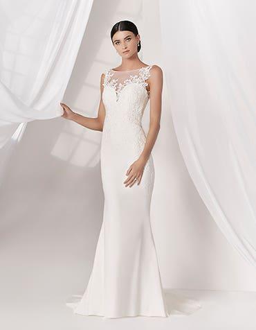 ELSBETH - luxuriöses Krepp-Meerjungfraukleid
