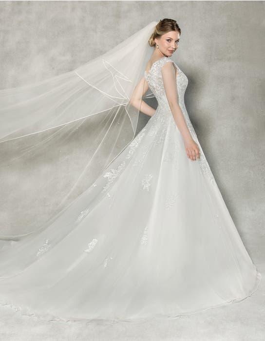 Emilia aline wedding dress back Anna Sorrano