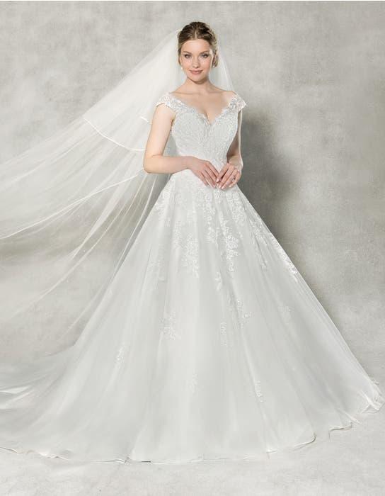 Emilia aline wedding dress front Anna Sorrano